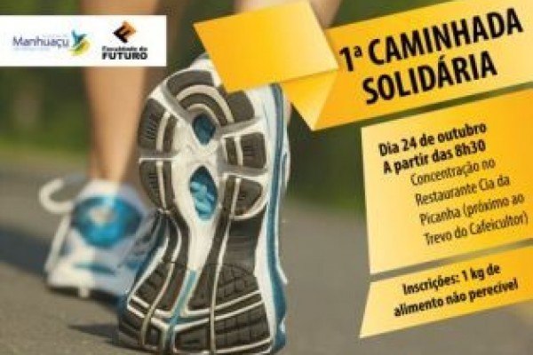 Manhuaçu  Primeira caminhada solidária será dia 24 de outubro – Manhuaçu  News 7ee2a0b2911ba