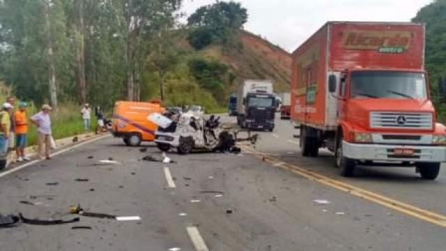 Santa Bárbara do Leste: Acidente na BR 116 deixa um ferido