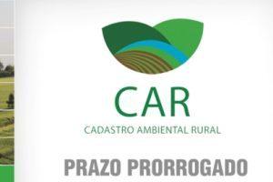 Prorrogado o prazo para o Cadastro Ambiental Rural (CAR)