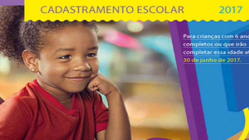Cadastramento escolar será de 13 a 17/06, em Manhuaçu