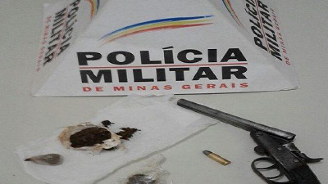 PM apreende menor infrator com drogas e arma de fogo