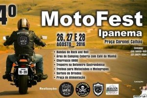 Ipanena realiza mais um Motofest: 26 a 28 de agosto