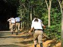 Sobrevivência em mata é tema de aula para policiais alunos do 11º Batalhão
