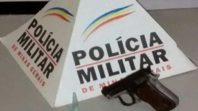 Lajinha: PM apreende arma de fogo e munições
