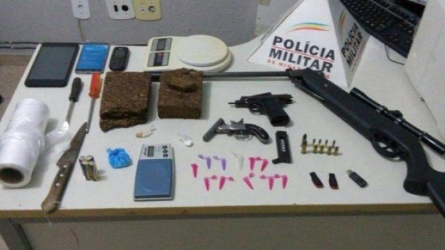 PM prende acusado de tráfico de drogas em Manhuaçu