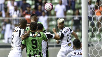 Atlético ameniza a crise com 3 a 0 sobre o América