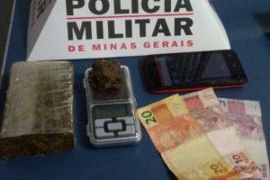 Manhuaçu: PM apreende droga no bairro Pinheiro