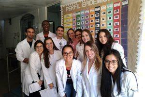 Alunos do curso de Medicina visitam ESF do Bairro Santa Luzia