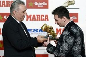Argentino Messi fatura chuteira de ouro