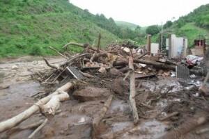 Caparaó: Açude rompe e destrói casa