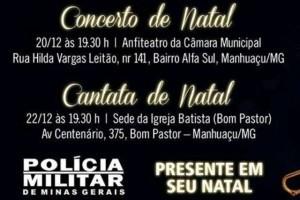 Cultura: Banda do 11º Batalhão se apresenta em cantatas do Natal. Confira os locais