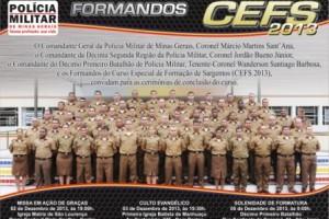 Formatura: PM forma novos sargentos nesta quinta-feira, 05/12