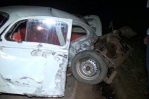 Caratinga: acidente entre fusca e fiesta deixa uma pessoa morta