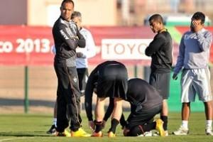 Atlético: clima de velório no treino de quinta-feira no Marrocos