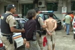 Vargem Alegre: esfaquearam homem de 40 anos e foram presos pela PM