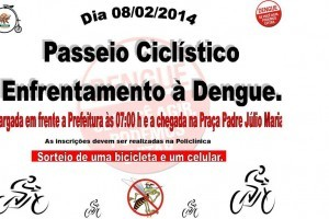 Manhumirim: passeio ciclístico incentiva combate a dengue