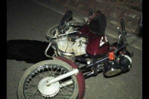 Santa Rita de Minas: batida de motocicleta e carro. Um ferido na colisão