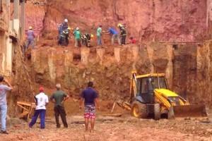 Manhuaçu: Operário morre em desabamento de barranco no Centro