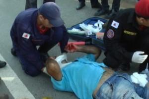 Caratinga: acidente fere motociclista na BR 116