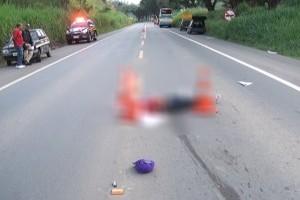 Caratinga: homem morre atropelado por ônibus na BR 116
