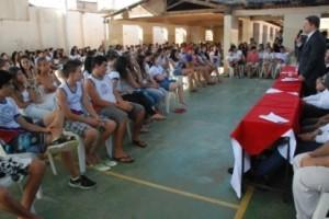 """Ipanema: """"OAB vai a escola"""" visita a cidade. Escola Coronel Calhau"""