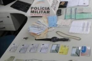 Manhumirim: PM prende estelionatário. Cheques e Carteiras de Habilitação falsas apreendidas