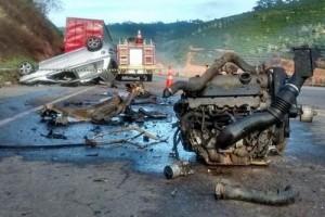 Manhuaçu: colisão entre carro e caminhão deixa um morto em Santo Amaro de Minas