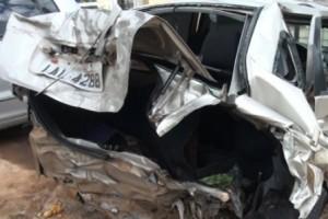 Santa Rita de Minas: sete pessoas feridas em acidente entre Celta e Fox, de Manhuaçu