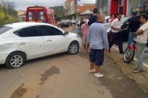Manhuaçu: motociclista sai ferido de acidente na Ponte da Aldeia. Ultrapassagem irregular