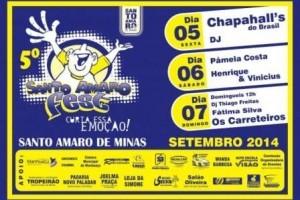 Manhuaçu: 5ª edição do Santo Amaro Fest começa nesta sexta-feira, 05/09