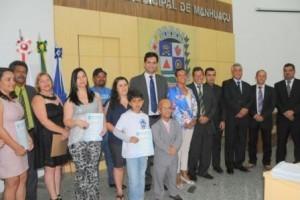 Manhuaçu: Garoto semifinalista da Olimpíada de Português recebe homenagem na Câmara de Vereadores