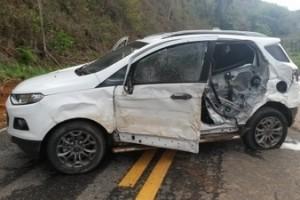 MG 111: Três veículos se envolvem em acidente. Danos materiais, sem vítimas