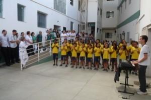 Manhuaçu: Alunos do projeto AABB comunidade realizam apresentação no HCL