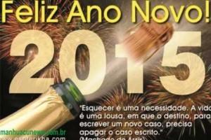 Felicidades no novo ano. Votos da equipe Manhuaçu News
