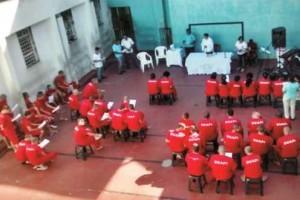 Manhuaçu: Pastoral Carcerária promove celebração de Santa Missa no Presídio. Boa participação de detentos