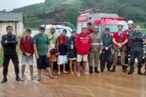 Iúna/ES: Jovens de Manhuaçu são surpreendidos por tromba d'água. Ficaram ilhados