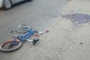 Manhuaçu: brincadeira quase fatal. Carreta esmaga perna de menino. Amputada no HCL