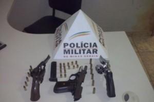 Santa Margarida: Polícia Militar apreende três armas de fogo na Rodovia AMG 900