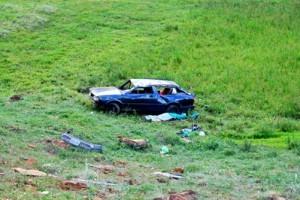 Manhuaçu: Uma pessoa morre em acidente com carro na região de Palmeiras