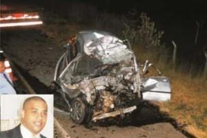 Manhuaçu: Acidente com duas vítimas fatais na BR 262, em Realeza. Um deles era funcionário do Banco Itaú