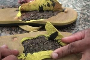 Caratinga: Maconha é encontrada dentro de chinelos. Mãe levava para filho preso