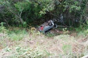 Ipanema: Pálio capota na MG 111. Cinco pessoas saem feridas