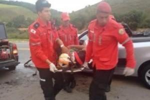 anta Rita de Minas: Motorista ferido em acidente na BR 116