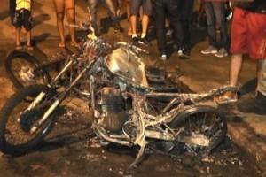 Caratinga: Carro e moto são incendiados no Bairro Limoeiro. Tentativa de furto