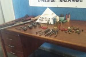 Inhapim: Operação Evidência resulta em 7 armas apreendidas