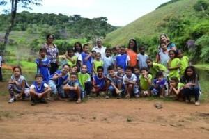 Manhuaçu: Alunos da escola municipal da Petrina visitam barragem de captação de água