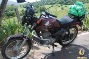 Ipanema: Motociclista sai gravemente ferido em colisão com Gol na MG 111