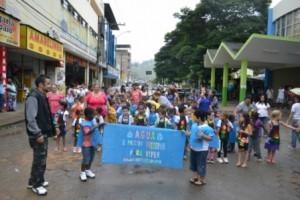 Manhuaçu: Escola Monteiro Lobato promove passeata sobre a preservação da água