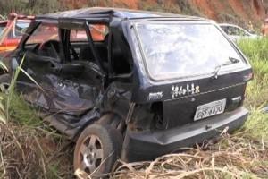 Caratinga: Família sofre acidente na MG 329