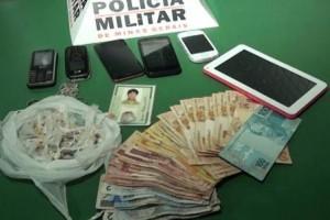 Ubaporanga: Drogas e dinheiro apreendidos